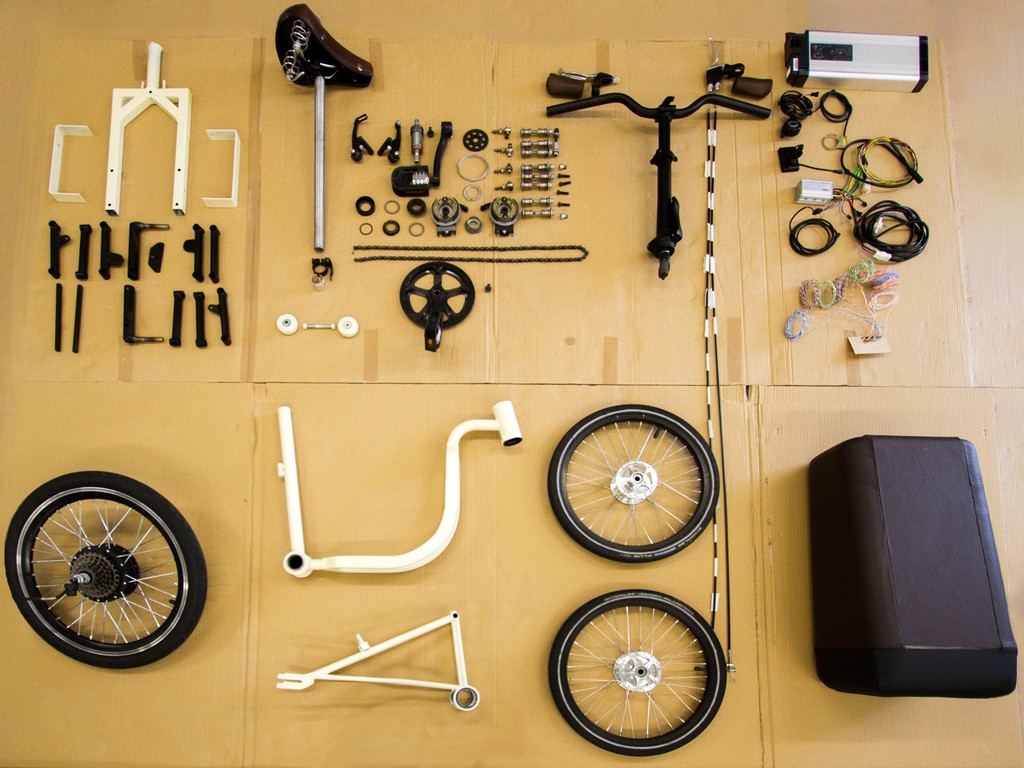 An overview of all the components of the Ghisallo
